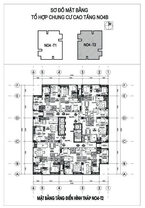 Bản vẽ chi tiết căn hộ tòa N04 T2 chung cư Ngoại Giao Đoàn