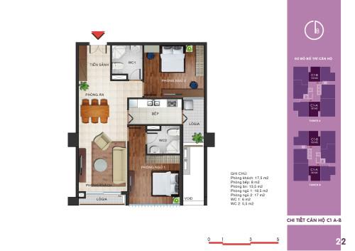 Căn hộ số 2 tòa T1 chung cư N04 Ngoại Giao Đoàn