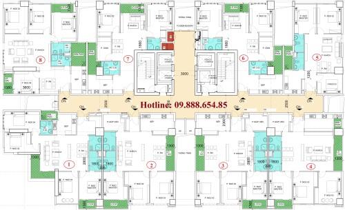 Chung cư N01-T2 Ngoại Giao Đoàn căn hộ 06
