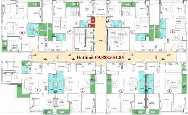 Bán căn số 8 chung cư N01-T2 Ngoại Giao Đoàn