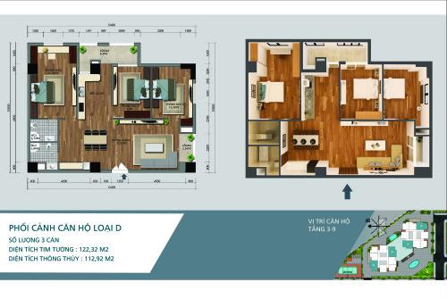 chung cư N02-T3 Ngoại Giao Đoàn diện tích 101.1 m2
